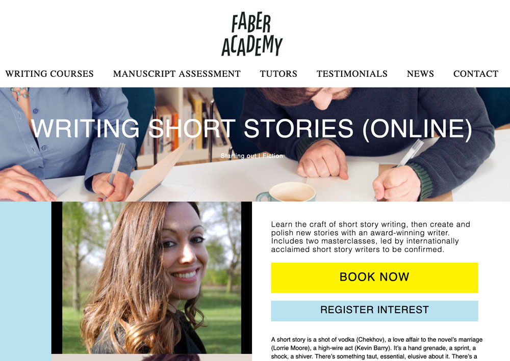 Learn the Craft of the Short Story at Faber Academy